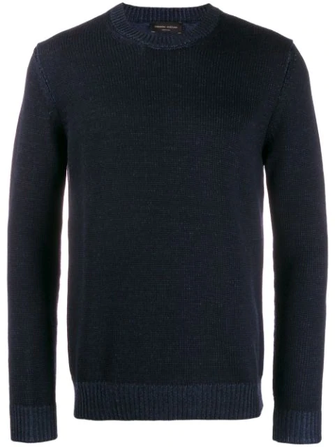 Roberto Collina Long Sleeve Knitted Jumper In Blue