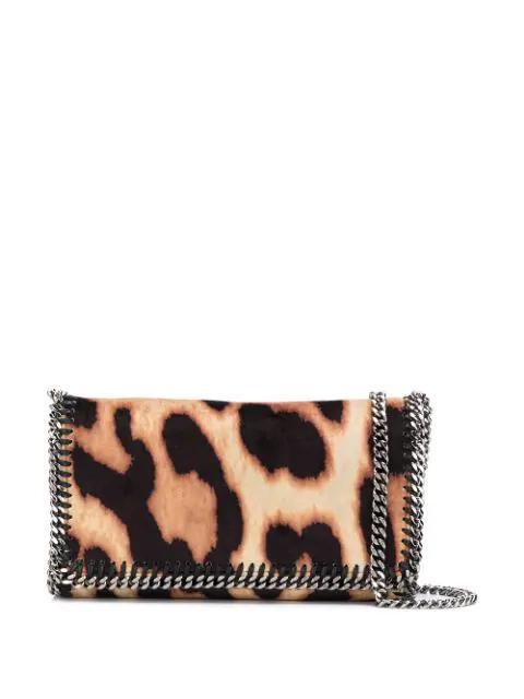 Stella Mccartney Leopard Falabella Crossbody Bag In 2755 Leopard Camel/Black