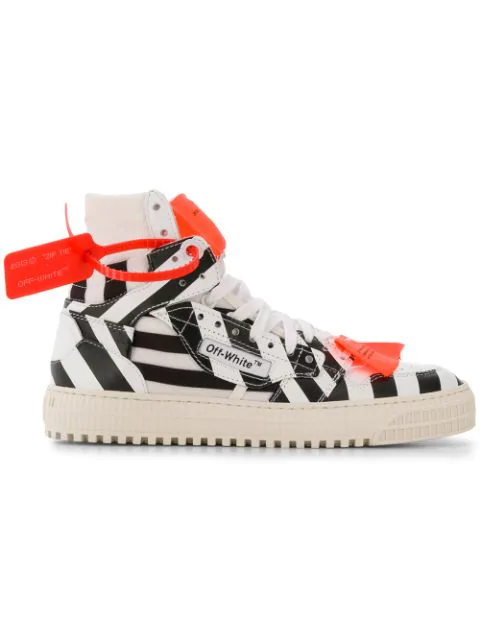 Off-White Off Court Leather High-Top Sneakers In White