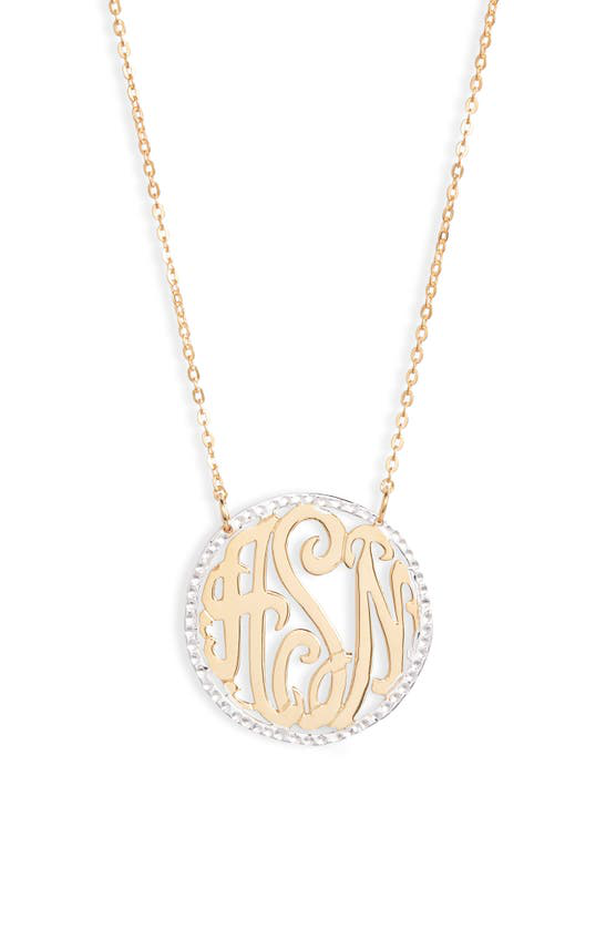 Argento Vivo Personalized Three Initial Pendant Necklace In Gold/silver