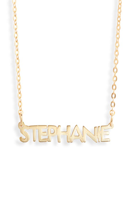 Argento Vivo Small Personalized Name Necklace In Gold