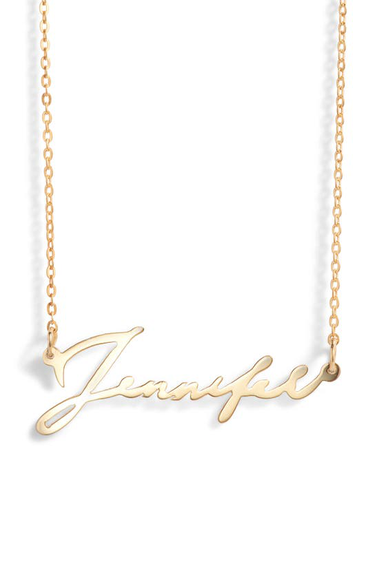 Argento Vivo Personalized Script Name Necklace In Gold