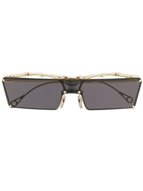 Innerraum Rectangular Frame Sunglasses In Gold