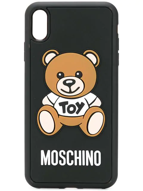Moschino Roman Question Mark Iphone X/xs Cover In 1555 Black