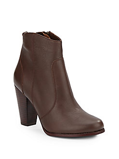 Joie Dalton Leather Ankle Boots In Luggage