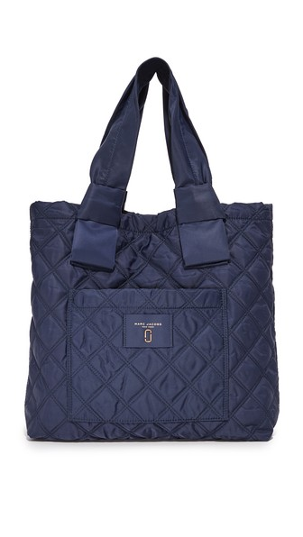 Marc Jacobs Knot Quilted Nylon Diaper Bag In Midnight Blue