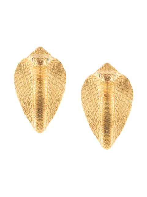Natia X Lako Cobra Earrings In Gold