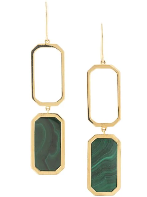 Julia Davidian Octagonal Drop Earrings In Gold