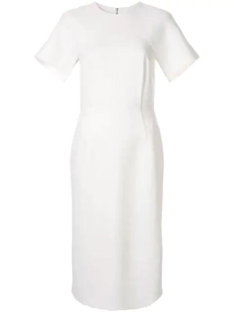 Dion Lee Cap Sleeve Midi Dress In White