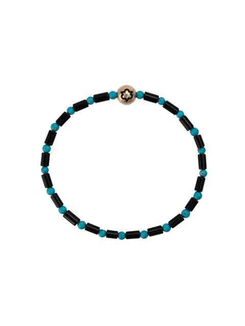 Luis Morais Trinity Enameled Bracelet In Black