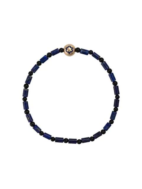 Luis Morais Trinity Enameled Bracelet In Blue