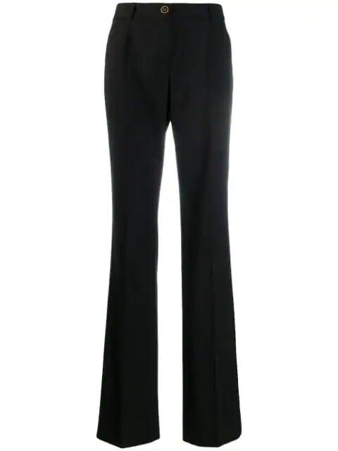 Dolce & Gabbana High Waist Tailored Trousers In Black