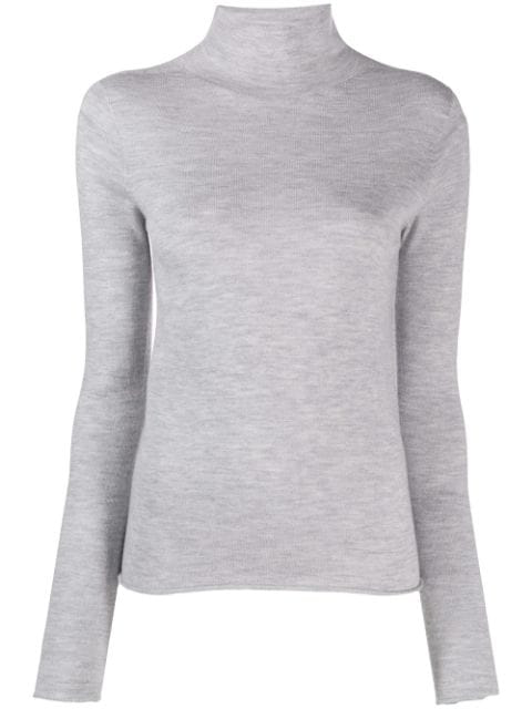 Joseph Turtleneck Knitted Sweater In Grey