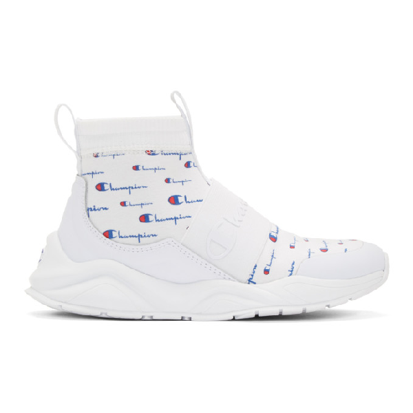 Champion Reverse Weave White Rally Script Sneakers Modesens