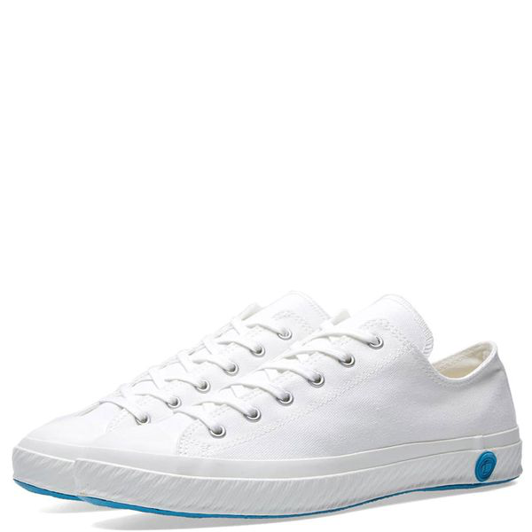 Shoes Like Pottery Handmade Japanese Low Canvas Trainer - Pure White