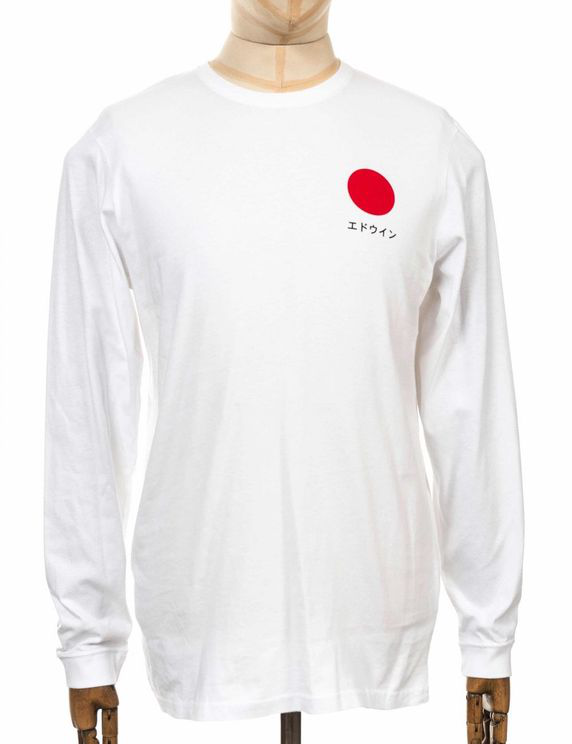 Edwin Jeans L/s Japanese Sun Tee - White Colour: White