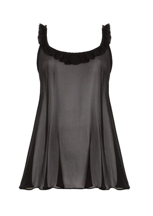 Gilda & Pearl Bardot Babydoll In Black