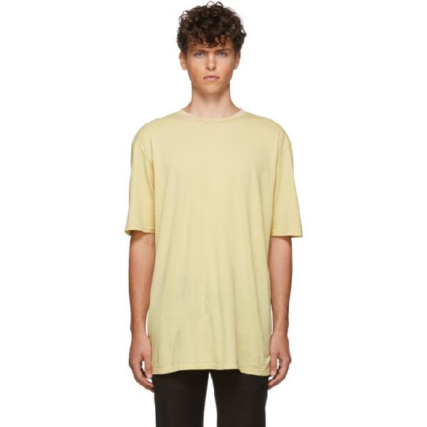 Haider Ackermann Yellow Awuna Dye T-Shirt In Awuna Yello