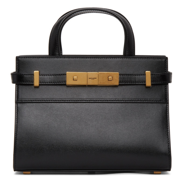 Saint Laurent Nano Manhattan Bag Black Embossed Leather In 1000 Black