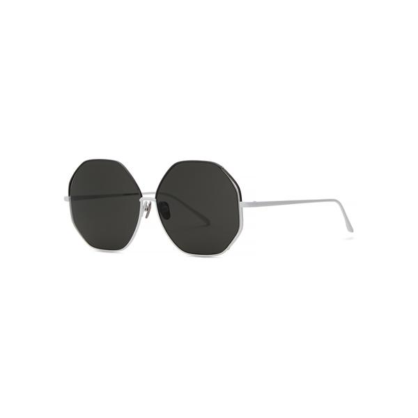 Linda Farrow Luxe 1009 C4 Oversized Sunglasses In Grey