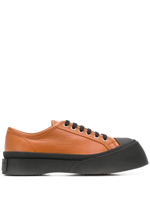 Marni Low-Top Chunky Sneakers In Brown
