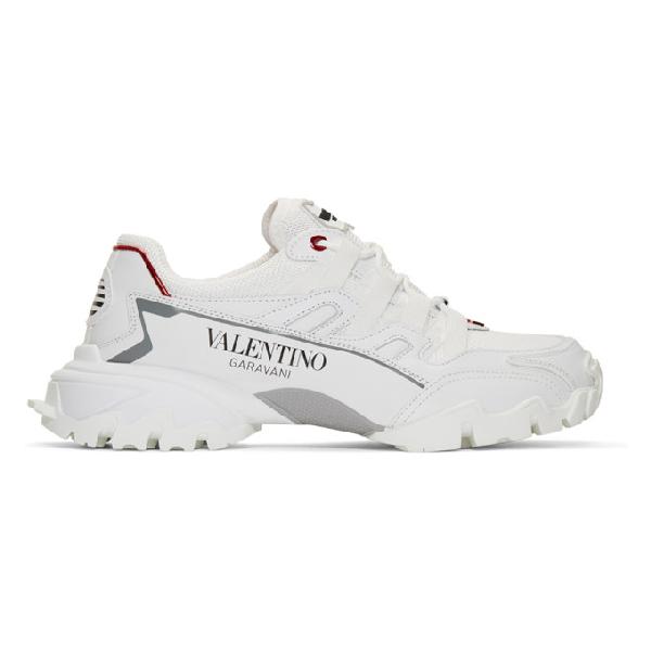 Valentino Garavani White Climber Leather Sneaker