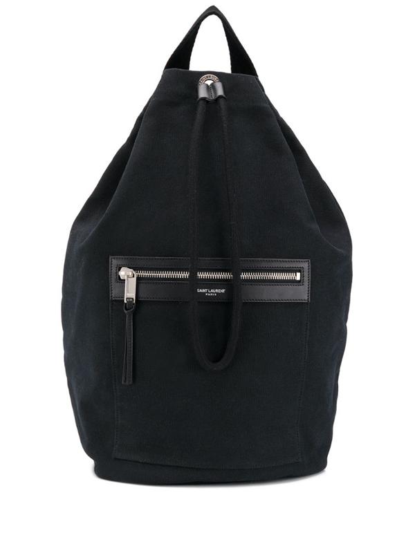Saint Laurent Bucket Style Backpack In Black