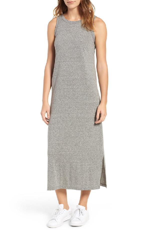 Current Elliott Current/elliott The Perfect Muscle Tee Midi Dress In Gray