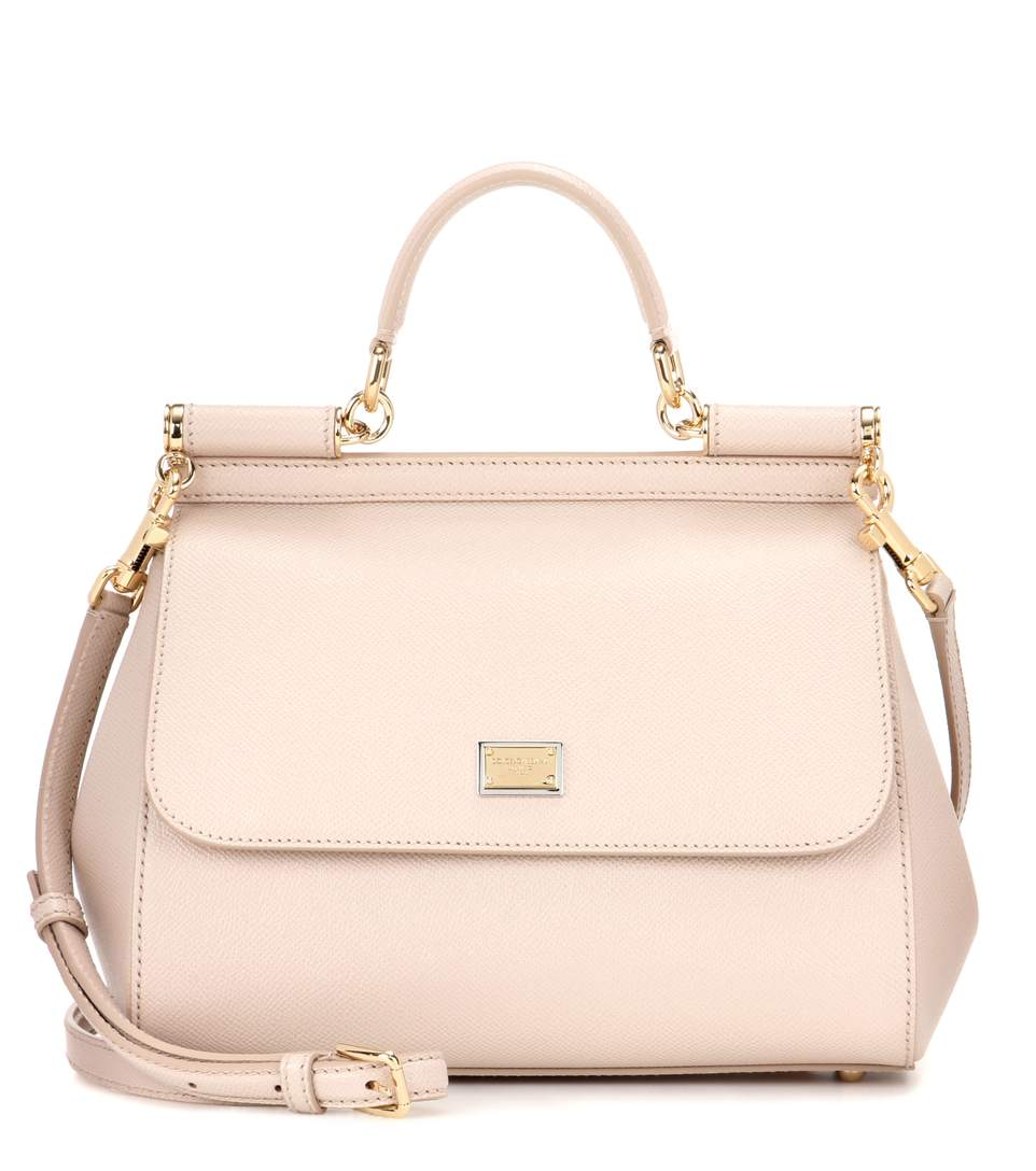 394e40047f Dolce & Gabbana Sicily Medium Leather Shoulder Bag In Piek Skie ...