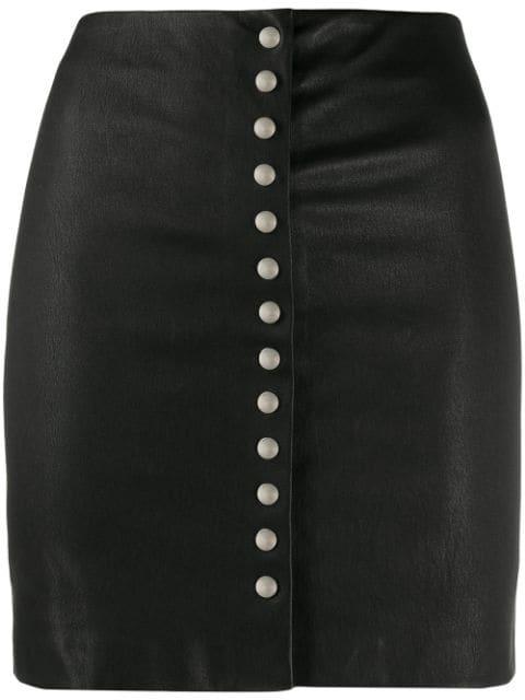 Iro Buttoned Mini Skirt In Bla01 Black