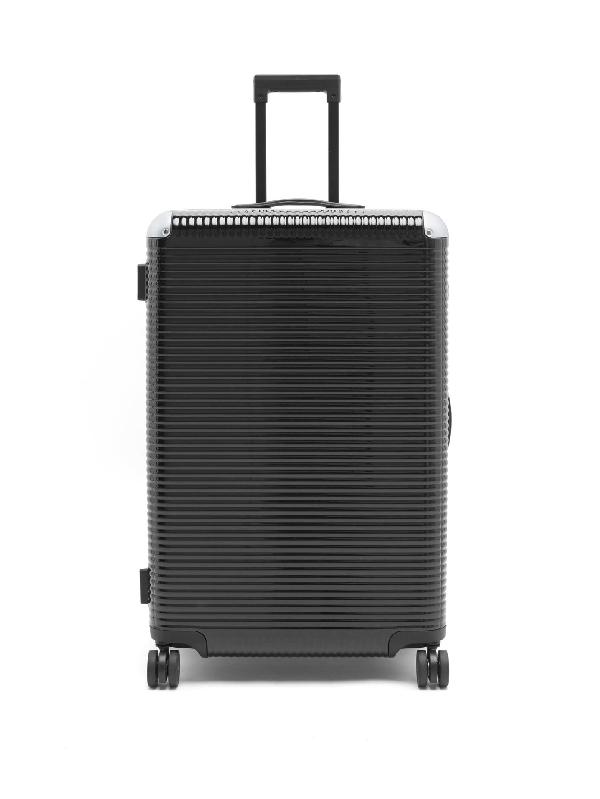 Fabbrica Pelletterie Milano Bank Light Spinner 76 Aluminium-trim Suitcase In Black