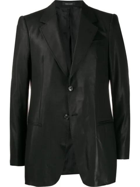 Pre-owned Giorgio Armani 2005 Double Buttons Slim Blazer In Black