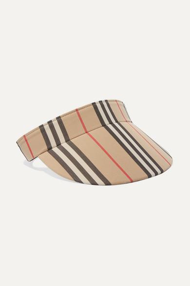 Burberry Heritage Stripe Visor - Brown In Beige