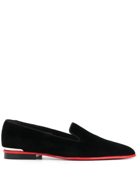 Alexander Mcqueen Metal Detail Loafers In 1081 Black
