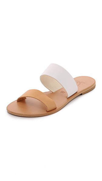 Joie A La Plage 'Sable' Leather Slip-On Sandal (Women) In White/Natural