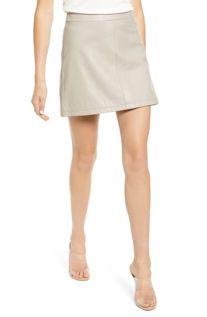 Cupcakes And Cashmere Marrie Leather Miniskirt In Toffee