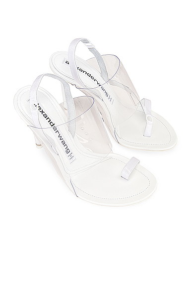 Alexander Wang Kaia Pvc Slingback Sandals In White
