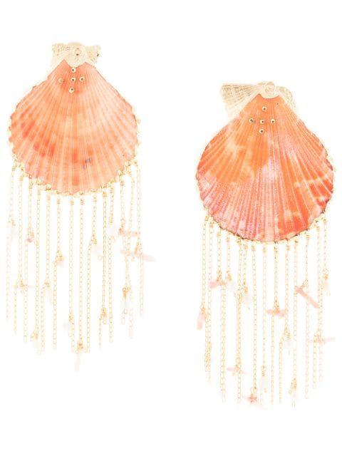 Mercedes Salazar Tropic Earrings In Gold