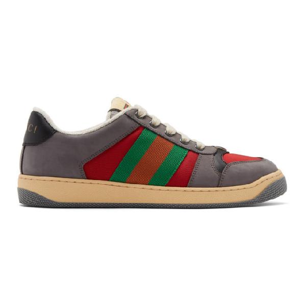 Gucci Screener Low-Top Sneakers In 6491 Lt H.R