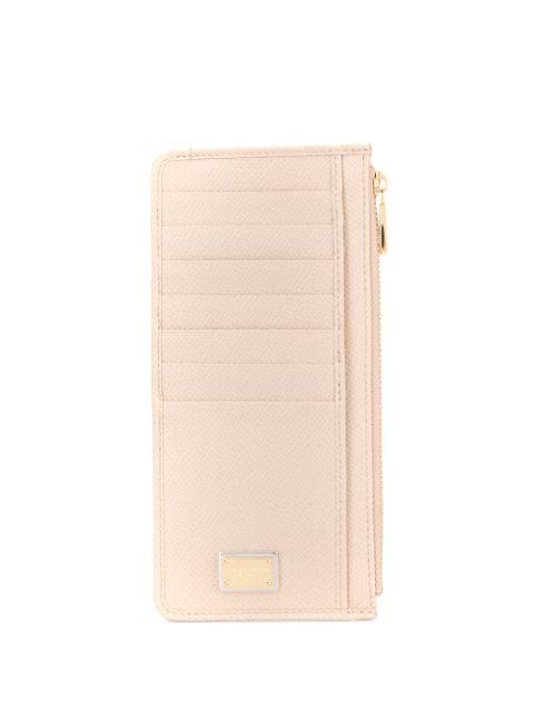 Dolce & Gabbana Logo Plaque Cardholder In Brown
