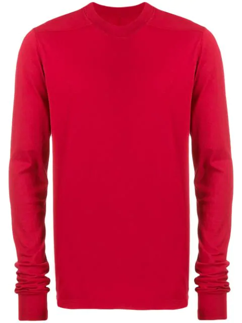 Rick Owens Drkshdw Crew-Neck Sweatshirt In 03 Cherry
