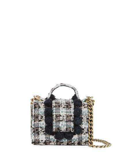 Kooreloo Petite Lollipops Lol Tweed Shoulder Bag In Black/gray