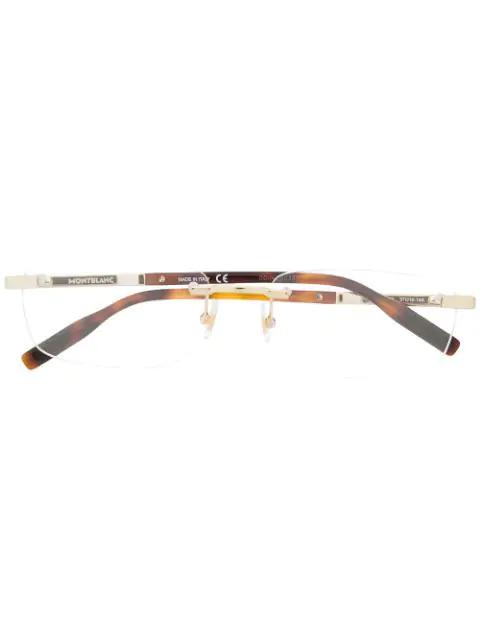 Montblanc Slim Lens Glasses In Brown