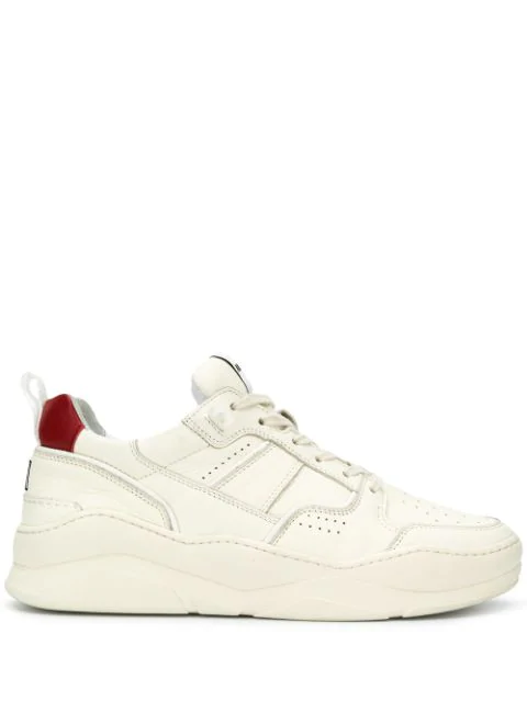 Ami Alexandre Mattiussi Logo-embroidered Leather Trainers In 600 Red