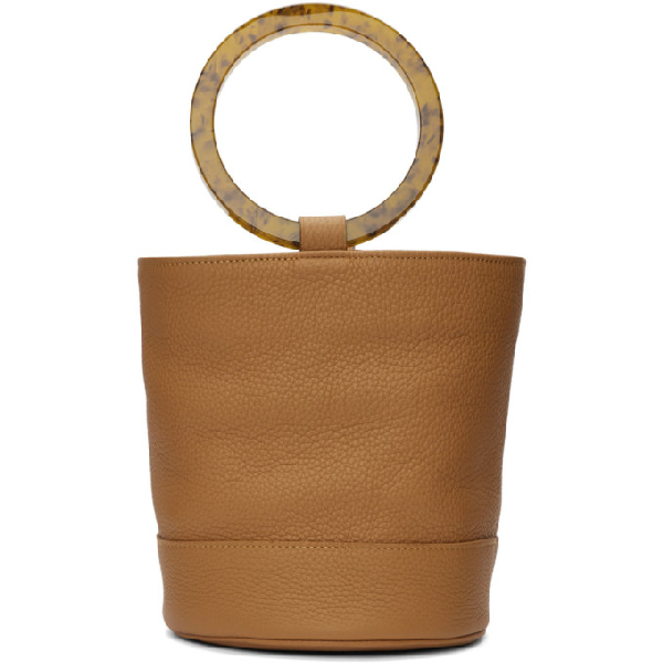Simon Miller Bonsai 20 Medium Leather Bucket Bag In 10064 Toffe