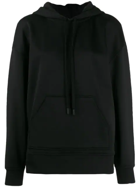CourrÈGes Classic Long Sleeve Hoodie In Black