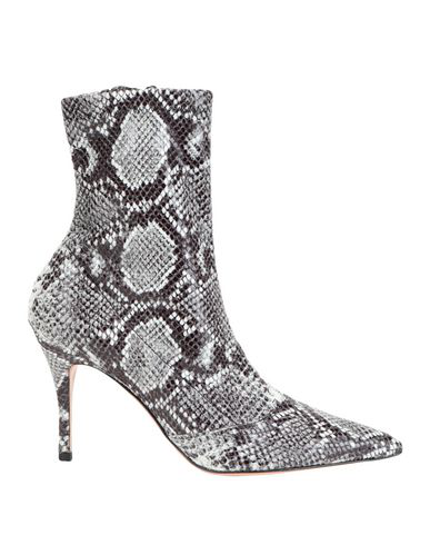 Roberto Festa Phyton Print Stretch Ramé Ankle Boot In Grey
