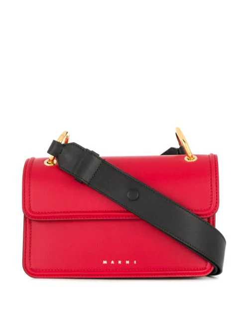 Marni New Beat Shoulder Bag In Red
