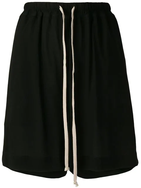Rick Owens Jersey Shorts In Black