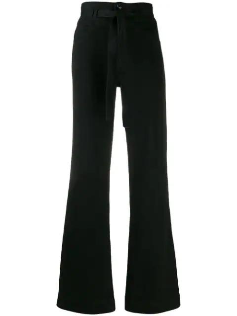 J Brand Sukey Flared Jeans In Black
